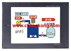 三菱触摸屏编程,三菱触摸屏plc,三菱A956GOT-LBD