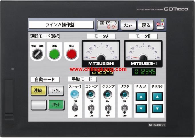 三菱 人机界面/三菱gt1030/三菱GT1675M-VTBA